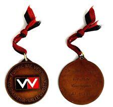 Medaglia Con Vernice Montagna Funivie Val Veny Courmayeur Valle D'Aosta 1974