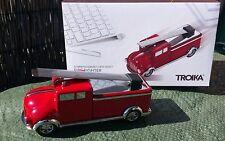 Feuerwehrwagen, Briefbeschwerer mit Lineal und Rückziehmotor inkl. Büroklammern
