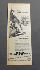 PUB PUBLICITE ANCIENNE ADVERT CLIPPING 060617 / HUILE POUR SCOOTER SHELL 2.T