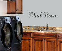 MUD ROOM WALL DECAL LETTERING VINYL WALL DECAL STICKER QUOTE HOME DECOR