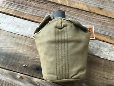 Original WW2 US Military Issue M1910 Canteen and Cover US S.M. Co 1944