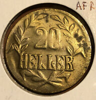 1916T German East Africa 20 Heller Collectible Coin - KM#15