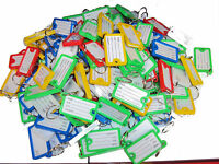 PLASTIC ASSORTED KEY RINGS COLOURED PLASTIC ID TAGS NAME LABEL FOB BIG