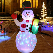 Christmas 5FT Inflatable LED Light Up Snowman Santa Decoration for Outdoor Xmas