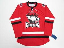 CHARLOTTE CHECKERS AHL RED REEBOK PREMIER HOCKEY JERSEY SIZE MEDIUM