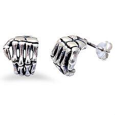 SKULL HAND  .925 Sterling Silver Earring