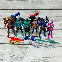 Bandai Power Rangers Super Samurai Action Figures Bundle & Disc Cycles Set