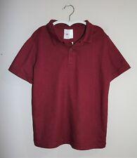 Target Kids School Wear Burgundy Short Sleeve Polo Size 8 BNWT #BOY2