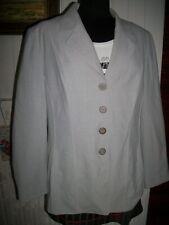 Veste Blazer gris polyester/laine stretch WEINBERG Made in France 46fr