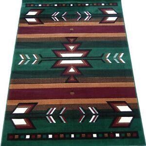 5x8 Area Rug Light Blue, H.Green Southwest Carpet Native American Home textiles