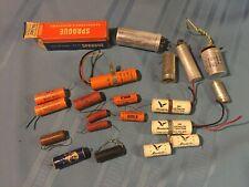 Lot Of 19 Vintage Electronic Components Capacitors Resistors