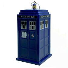 """Kurt Adler Doctor Who 13th Doctor Tardis Ornament Shatterproof 4.5"""" New"""
