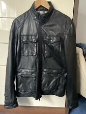 Reiss Mens Black Leather Jacket Size Small Excellent Condition