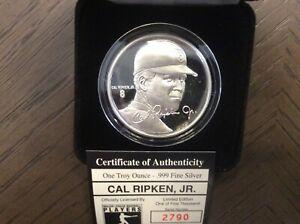 CAL RIPKIN, JR - ONE TROY OUNCE COIN - .999 FINE SILVER /5000