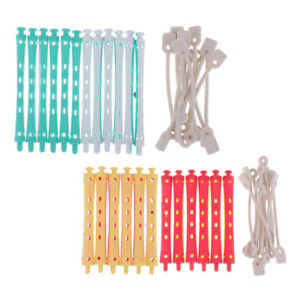 24pcs/kit Hair Curler Perm Rods Hairdressing Roller Plastic Round Grip Style
