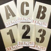 LARGE ALPHABET STENCIL LETTERS / NUMBERS 120mm HIGH (4  3/4') separate stencils