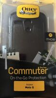 New OEM OtterBox Commuter Series Black Case For Motorola Moto G 1st Gen