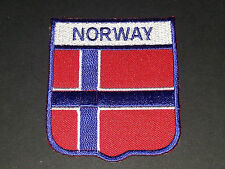 BACKPACKERS NATIONAL COUNTRY SHIELD FLAG SEW/IRON ON PATCH:- NORWAY