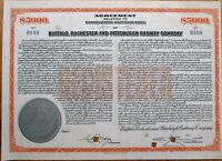 Buffalo, Rochester & Pittsburgh Railway/Railroad Co. 1940 Stock/Bond Certificate