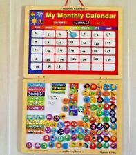 Perpetual Magnetic Calendar Colorful Dry Erase Notes Reality Orientation Teacher