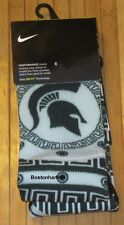 New Nike Michigan State Spartans Performance Socks Size M (6-8) Green SX7028-397
