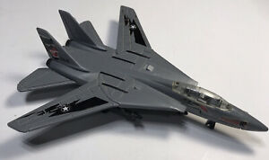 "Maisto F-14 Tomcat Fighter Jet NAVY Flasher Bomber Plane 5"" Metal Diecast Gray"