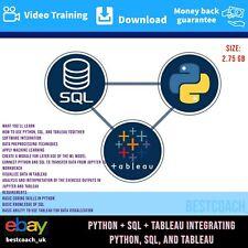 Python + Sql + Tableau Integrating Python, Sql, And Tableau - Video Training