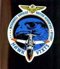 "HAWK VTXTS Rolls-Royce McDonnell Douglas British Sperry 5-1/4"" x 4-1/4"" sticker"