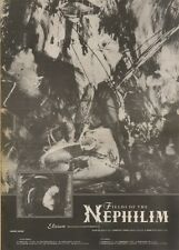 29/9/90 Pgn71 Advert: Fields Of The Nephilim New Album elizium  15x11 FRAMED
