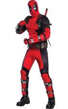 Mens Grand Heritage Deadpool Costume Deluxe Superhero Fancy Dress Outfit