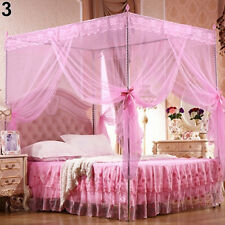 4 Corner Mosquito Net Lace Bed Canopy Princess Netting Twin/Full/Queen Size