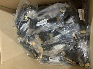100 x HDMI-DVI-10CM Adapter (DVI female to HDMI Male) Black Gold Plated