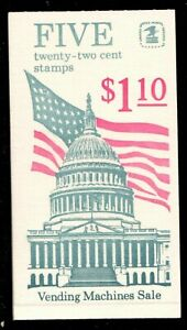 Scott BK144 22¢ Flag over Capitol Booklet MNH Free shipping in USA!
