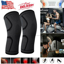 2 Knee Sleeve Compression Brace Support Sport Joint Pain Relief Arthritis Copper