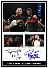 95. TYSON FURY & DEONTAY WILDER BOXING SIGNED   PHOTOGRAPH #