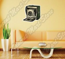 "Vintage Retro Photo Camera Photographer Wall Sticker Room Interior Decor 25""X20"""