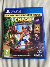 Crash Bandicoot N'Sane Trilogy -- Playstation 4 PS4 -- With 2 Bonus Levels
