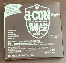 d-Con Rodent Bait Trays Poison Pellets Kills Mice Rats Dcon 3 oz Box