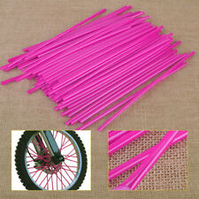 72pcs Pink Wheel Spoke Coat Wrap Skin Cover Fit For Motor Dirt Bikes ATV Chopper