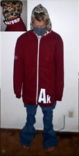 """Akrynm Tall """"Full Zip"""" Crew XLT- Maroon Ski / Snowboard Hoodie"""