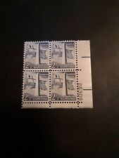 US Stamp #1034, 1959 Bunker Hill Monument.2.5cent MNH plate block of four