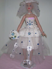 """6 PIECE HANDMADE CROCHET CLOTHING & ACCESSORIES FOR 18"""" KITTY COLLIER DOLLS"""