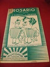 Partitura Pasodoble De Rosario F Gabutti y J Colombo