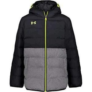Under Armour Boys' Pronto Puffer Jacket, Black F202, Size Medium MaSo