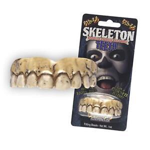 Adults Brown Fake Zombie Skeleton Teeth Custom Fit Set Hill Billy Bob Halloween