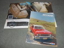 1973 CHEVROLET NOVA ORIGINAL 12-PAGE SHOWROOM BROCHURE 73 CHEVY SALES CATALOG