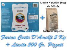 5 Kg di Farina 0 Costa D'Amalfi 300 W + Lievito 500 Gr per Pizza Italy Pizzuti