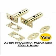2 X Yale Door Security Bolts Rack Bolts Brass Finish -