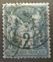 FRANCE SC # 65 TYPE 1* 1876 VF  Peace And Commerce * Beautiful Appearance  Lot F