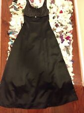 Black And Silver Glitter Formal Dress Junior Size 5/6